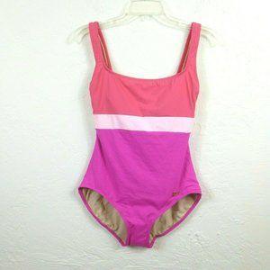 Liz Claiborne Swimsuit sz 10 Pink One Piece Tank